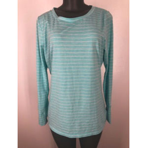Gap Fit Top Size Large Thumb Hole Long Sleeve Blue